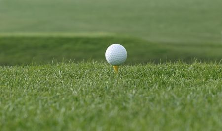 get ready golf ball on tee Stock Photo - 374731