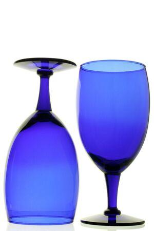gafas de color azul Foto de archivo - 382191