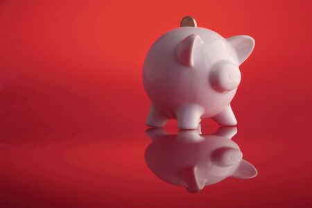 piggy bank saving Stock Photo