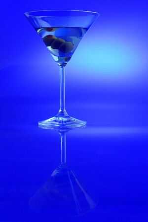 martini glass: single martini  glass