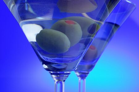 double martini Stock Photo
