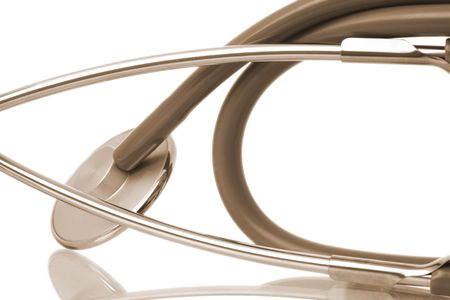 auscultation: medical stethoscope