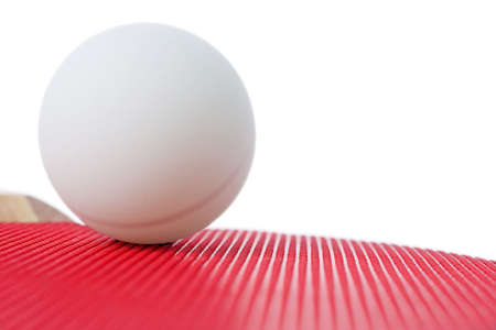 abstract table tennis bat and ball Stock Photo