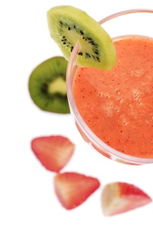 strawberry and kiwi smoothie Stock Photo