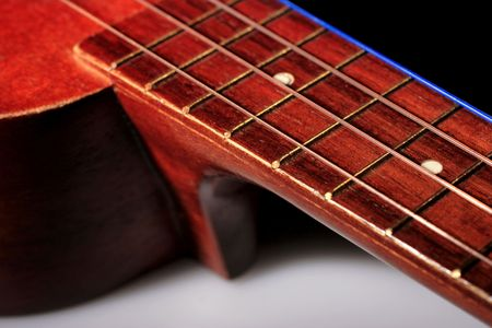 acoustic ukulele: ukulele, string instrument Stock Photo