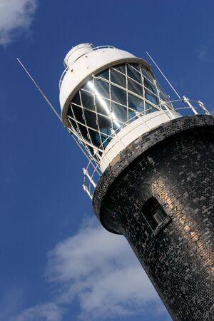 spurn: lighthouse, Spurn Point, England. Stock Photo