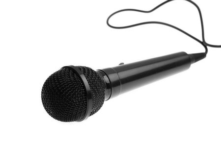microphone isolated on a white background photo