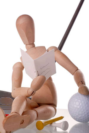 inexperienced: mannequin learning how to play golf