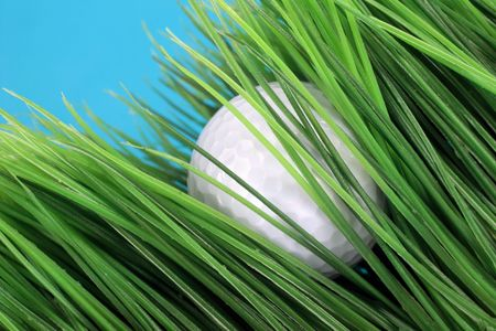 golf ball lost in long rough artificial grass Stock Photo - 544024