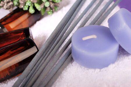 incense sticks: concept, alternative medicine,essential oils, candles and incense sticks