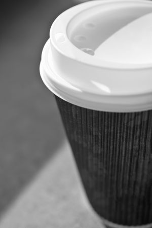 coffee in disposable cup,recycle. Stock Photo - 633058