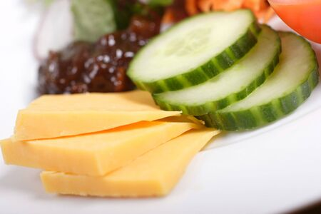 pickle: ploughmans lunch, salad cheese and pickle