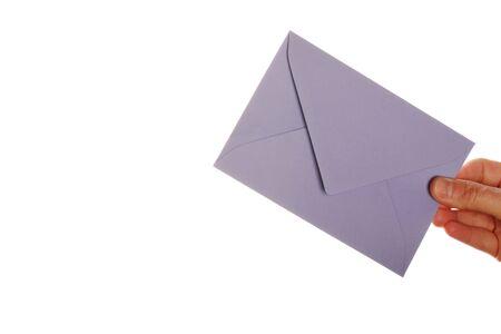 comunicaci�n escrita: la entrega de correo lado, copyspace de texto  Foto de archivo