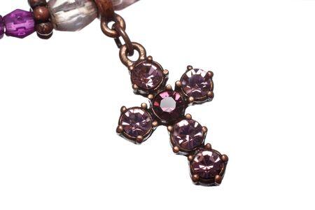 purple crucifix, fashion costume jewelry photo