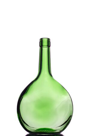 one green bottle for recycling Stock Photo - 708631