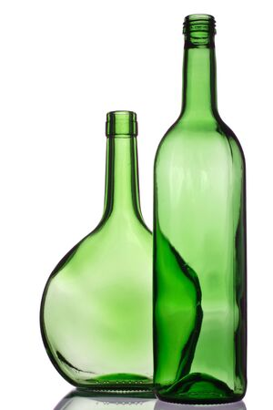 two green bottles for recycling Stock Photo - 708632
