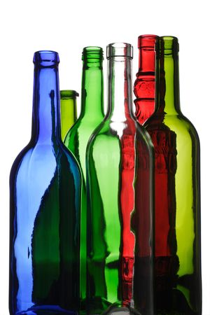 distill: empty wine bottles for recycling