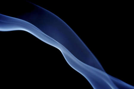 blue incense curves and flow Stock Photo - 761238