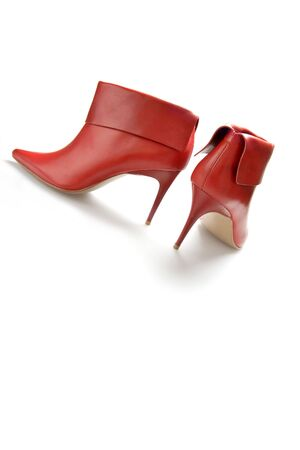 red high heeled sexy boots photo