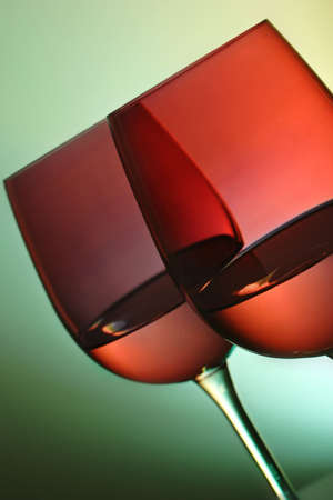 two red wine glasses with ambient lighting Stock Photo - 783938