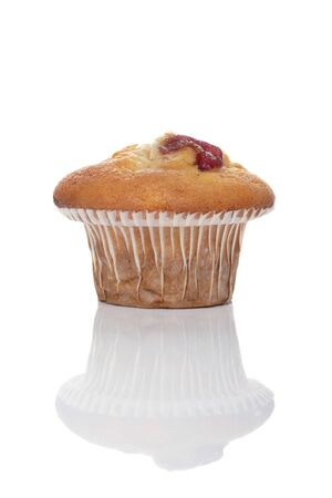 cherry muffin and reflection photo