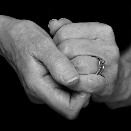 nana: old ageing female hands, memories Stock Photo