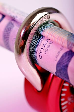loot: dollar bill secured away with lock