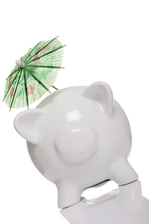 piggy bank, concept holiday savings, tax shelter. photo
