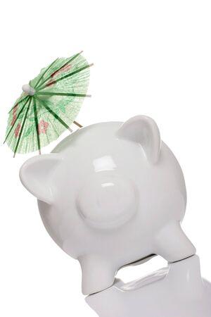 loot: piggy bank, concept holiday savings, tax shelter.