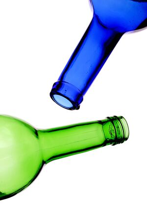 empty blue and green bottles, recycle. Stock Photo - 833517