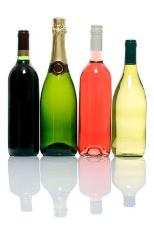 unopened: four unopened bottles of alcoholic beverages