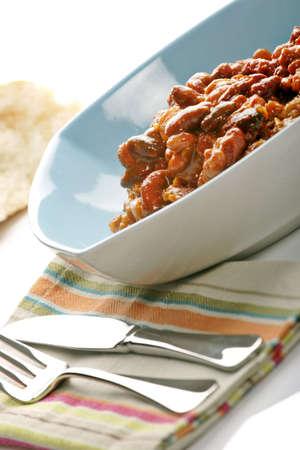 crusty: Bowl of Chilli with crusty farmhouse bread