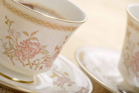 tea cup and saucer , shallow depth of field Stock Photo - 900585