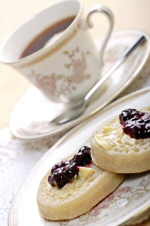 tea and crumpets for one Stock Photo - 900588
