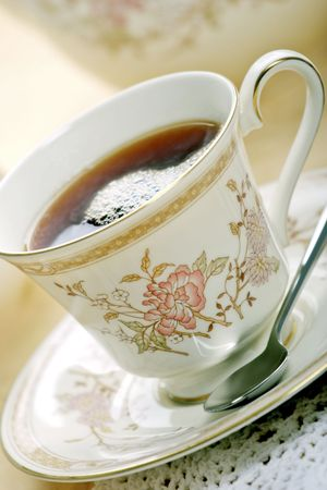 typically english: tea cup and saucer