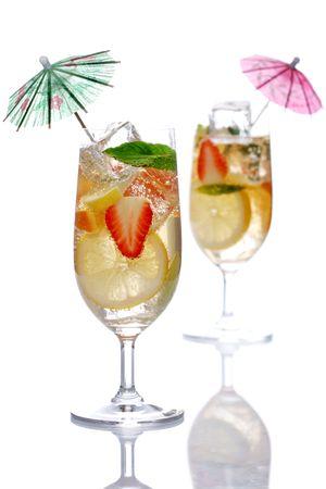 delicious fruit cocktail photo