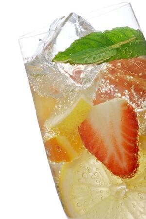 cocktail de fruits: d�licieux cocktail de fruits Banque d'images