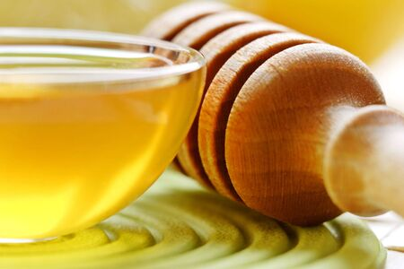 A delicious serving of pure clear honey, a great way to start the day Stock Photo - 990849