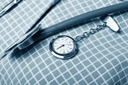 fob: nurses uniorm ,fob watch and stethoscope
