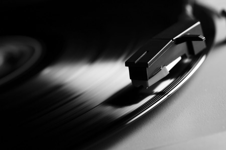 lp: old record LP and player Stock Photo
