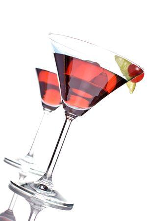 bacardi: bacardi cocktail, with grenadine, lime juice and bacardi light rum