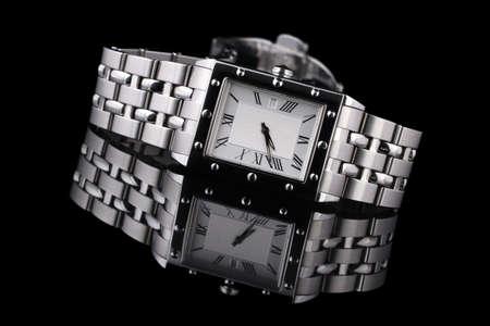 classic mans watch, modern design. Stock Photo