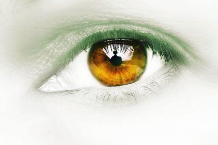 cross processed: female eye, thirty something, cross processed.