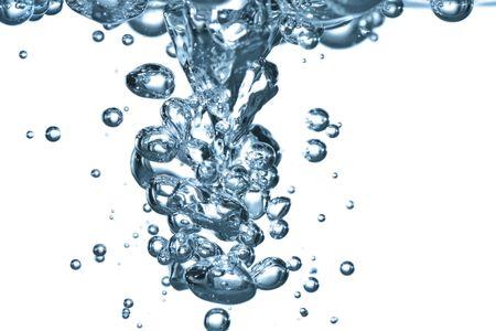 turbulence: flowing stream of water causing lots of turbulence