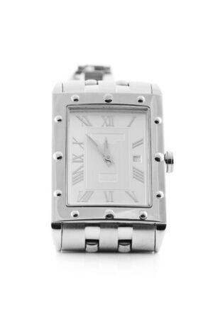 mans watch: Mans cromo reloj de pulsera  Foto de archivo
