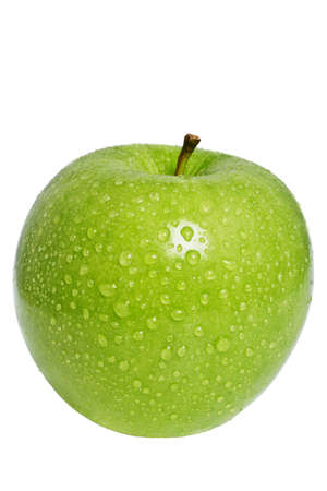 granny smith: crunchy granny smith apple