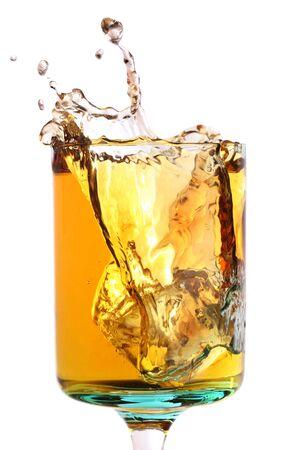and grape juice: white grape juice with a splash of ice