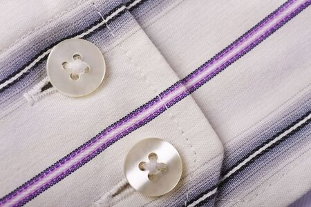 cuff: close-up of a cotton shirt cuff ,showing texture to the fabric Stock Photo