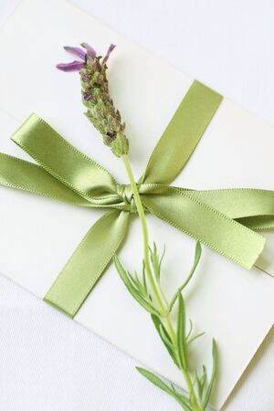 private party: sealed letter with lavender decoration