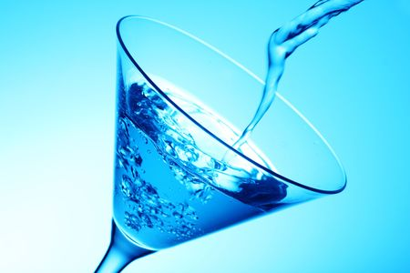 deliciously: sophistaicated blue cosmopolitan cocktail, deliciously smooth Stock Photo